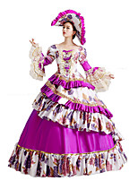 Steampunk@Women's Layered Floral Halloween Fancy Dress Costumes Halloween Dress