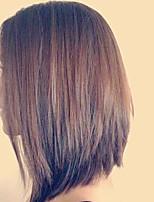 бесклеевой фронта шнурка человеческих волос парики шелковые прямые прически для индийских девственниц 8-12inch париков волос