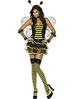 Costumes Déguisements d'animaux Halloween Noir / Jaune Rayé Térylène Robe / Plus d'accessoires