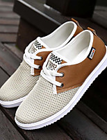 Men's Flats Spring Summer Canvas Outdoor Casual Flat Heel Others Blue Gray Khaki Walking