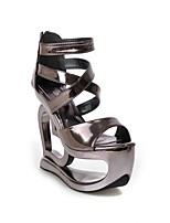 Women's Sandals Summer Platform Leatherette Casual Wedge Heel Platform Others Silver Gray Other