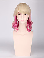 Blonde Pink Mixed Color Women Synthetic Wigs Fashion Cosplay Wigs