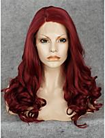 парик шнурка Парики для женщин Красный Карнавальные парики Косплей парики