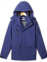 Мужской Нейлон Куртка На каждый день / Для занятий спортом / Большие размеры,Однотонный,Длинный рукав,Синий / Зеленый / Оранжевый / Серый