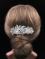 The Fashion Diamond Flowers Pearl Hairbrush