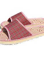 Women's Slippers & Flip-Flops Summer Comfort Linen Casual Flat Heel Others Blue / Red / Burgundy Others