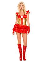 Costumes Superhéros Halloween Rouge Mosaïque Térylène Robe / Plus d'accessoires