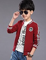 Boy's Casual/Daily Solid Suit & BlazerCotton Spring / Fall Black / Red