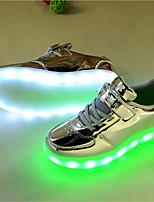 Per bambino-Sneakers-Tempo libero / Casual-Ballerine-Piatto-Microfibra-Rosso / Bianco / Dorato