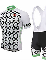 XINTOWN Men's Short Sleeve Cycling Jerseys And Bib Padded Biking Shorts Set MTB
