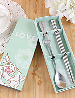 Personalized Gift Wedding / Christmas / Valentine Party Tableware-2Piece/Set Tableware Sets Kits Stainless Steel