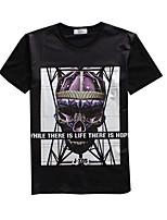 New Fashion Men Skull Printed Crew Neck Short Sleeve Men 3d T-shirt