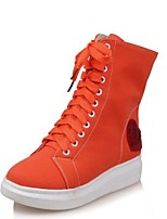 Women's Boots Fall / Winter Flats Denim Outdoor / Dress / Casual Flat Heel Others White / Orange Others