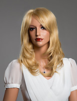 Sweety à long capless ondulé cheveux humains perruque 17 pouces