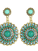Earring Circle Drop Earrings Jewelry Women Fashion / Bohemia Style Party / Daily / Casual Alloy 1 pair Gold KAYSHINE