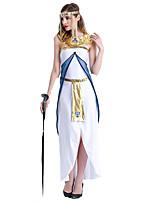Costumes de Cosplay / Costume de Soirée Déesse Fête / Célébration Déguisement Halloween Blanc Mosaïque Robe Halloween Féminin Polyester