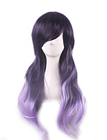 Cosplay Wig  A Girl Of Original SuFeng Purple Gradient 28 Inch Long Hair Wigs