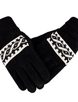 Male Thickened And Plush Warm Gloves Motorcycle Knitted Glove