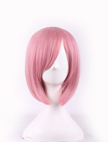 Fashion Sexy Women Hair Short Wigs Pink Color Cosplay Synthetic Wigs