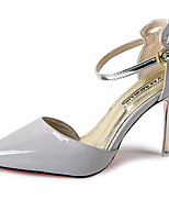Women's Heels Spring / Summer / Fall Heels / Pointed Toe Leather Dress / Casual Stiletto Heel Buckle