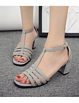 Women's Sandals Summer Sandals Synthetic Outdoor Chunky Heel Others Black / Gray Others