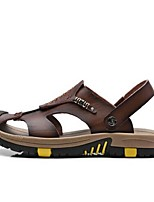 Men's Sandals Summer Sandals PU Casual Flat Heel Others Blue / Brown / Tan Others