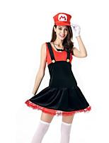 Women's Supper Mario Party Dress Halloween Costume