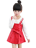 Girl's Going out Solid Dress / BlousePolyester Spring / Fall Black / Red