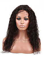 10-28 inch Natural Black Color Curly 100% Brazilian Virgin Human Hair Lace Front Wig With Baby Hair Lace Wig