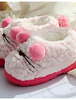 Girl's Slippers & Flip-Flops Winter Comfort Fleece Fur Casual Flat Heel Pink White Other