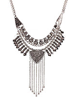 May  polly European and American fashion retro multi Tassel Necklace exaggerated