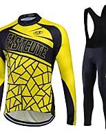 Fastcute® Fahrradtrikot mit Trägerhosen Damen / Herrn / Unisex Langärmelige FahhradAtmungsaktiv / warm halten / Rasche Trocknung / Fleece