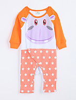 Girl's Casual/Daily Animal Print Overall & JumpsuitCotton Fall Orange