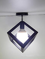Retro Restaurant Bar Iron Chandelier Square Triangle Industrial Wind