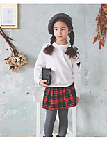 Girl's Casual/Daily Plaid SkirtPolyester Fall Red