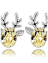 Thousands of colors Earring Animal ShapeJewelry 1 pair Fashionable Alloy Silver Daily