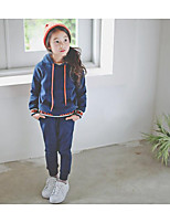 Girl's Casual/Daily Solid Hoodie & Sweatshirt / Clothing SetCotton Winter / Fall Blue