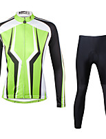 Ilpaladin Sport Women Long Sleeve Cycling Jerseys Suit CT713 Dark Green