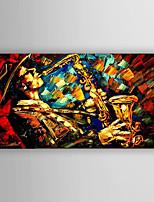 Ручная роспись Люди / Абстрактные пейзажи Картины маслом,Modern 1 панель Холст Hang-роспись маслом For Украшение дома
