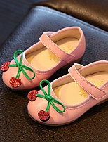 Girl's Flats Summer Mary Jane Casual Flat Heel Applique Black / Pink / White Walking