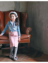 Girl's Going out Solid DressPolyester Spring / Fall Black / Pink