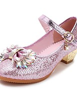 Girls Cinderella Glass Slipper Princess Crystal Shoes Soft Bottom Dress shoes Leather Princess Shoes Performance shoes