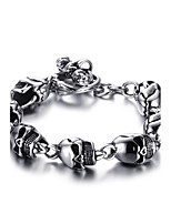 Men's Chain Bracelet Stainless Steel High Polished Punk Style Daily Party Halloween(1Pc)