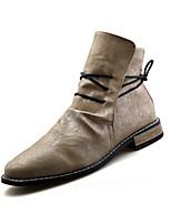 Men's Sneakers Spring / Fall Comfort PU Casual Flat Heel  Black / White / Beige Others