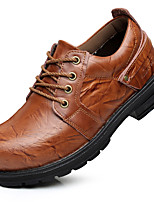 Men's Oxfords Spring / Summer/Fall /Winter Comfort Nappa Leather Office & Career / Casual Chunky Heel Black/Brown