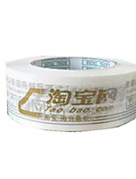 Two Gold Words White Background Warning Tapes Per Pack