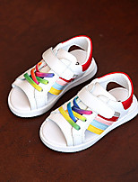 Unisex Sandals Summer Sandals / Round Toe PU Casual Flat Heel Others Green / Red Others