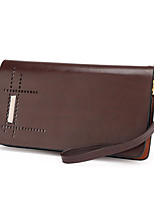 Men Cowhide Casual Wristlet