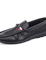 Men's Loafers & Slip-Ons Moccasin PU Office & Career / Casual Flat Heel Slip-on Black / White Walking EU39-43