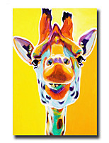 Modern Wall Art Oil Painting Abstract Cute Giraffe Pictures Hand Painted On Canvas With Stretched Frame
